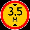 Знак 3.13 временный