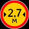 Знак 3.14 временный